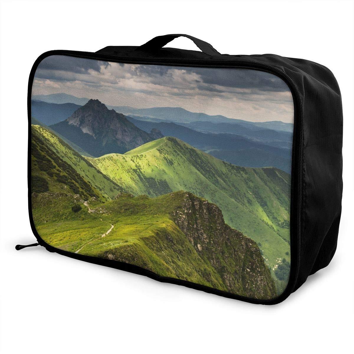 Travel Luggage Duffle Bag Lightweight Portable Handbag Mountains Print Large Capacity Waterproof Foldable Storage Tote