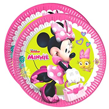 Minnie Placas de Papel Rosa | 8 Piezas | Disney Mouse ...
