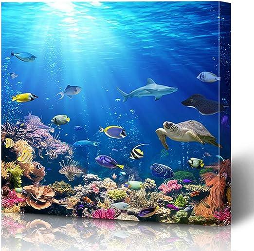 Tropical Fish Sea Reef Giant Wall Art poster Print