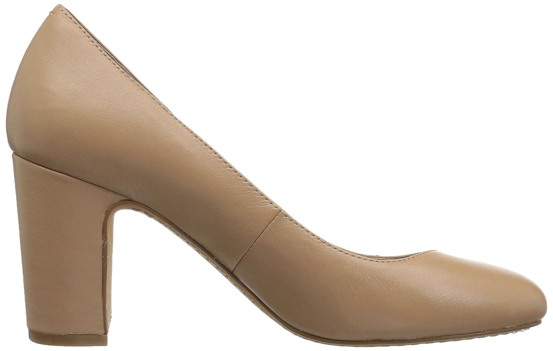 206 Collective Women's Coyle Round Toe Block Heel High Pump B0789FHVXG 11.5 B(M) US|Neutral Leather