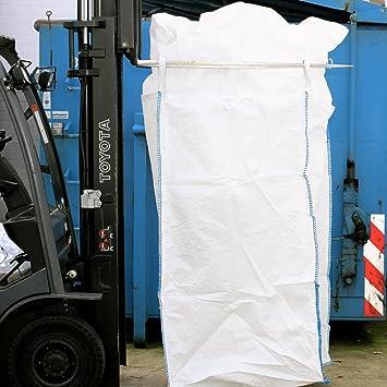 unbeschichtet SWL 1000 kg Schürze Big Bag 100 x 100 x 200 cm SF 5:1