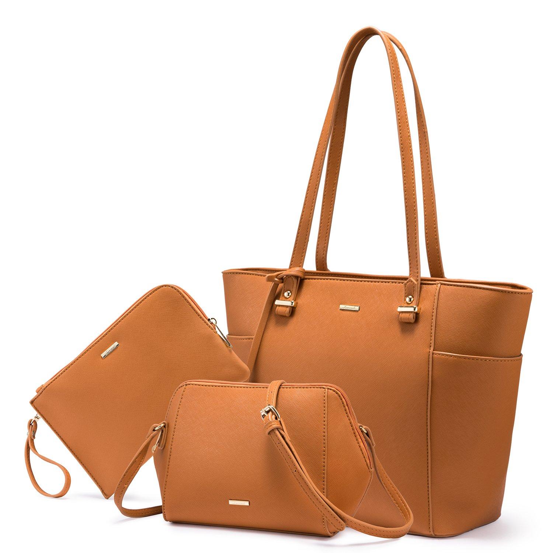 LOVEVOOK Women Purses and Handbags Chic Crossbody Bag Hobo 3pcs Large Capacity LK119601-1