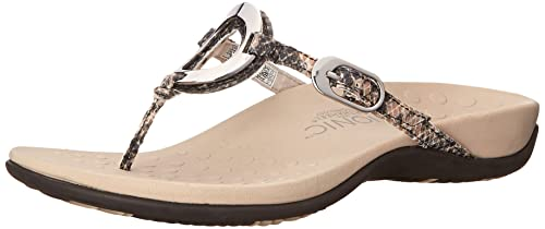 Vionic Women's Karina Arch Support Thong Sandal Natural 9 M US