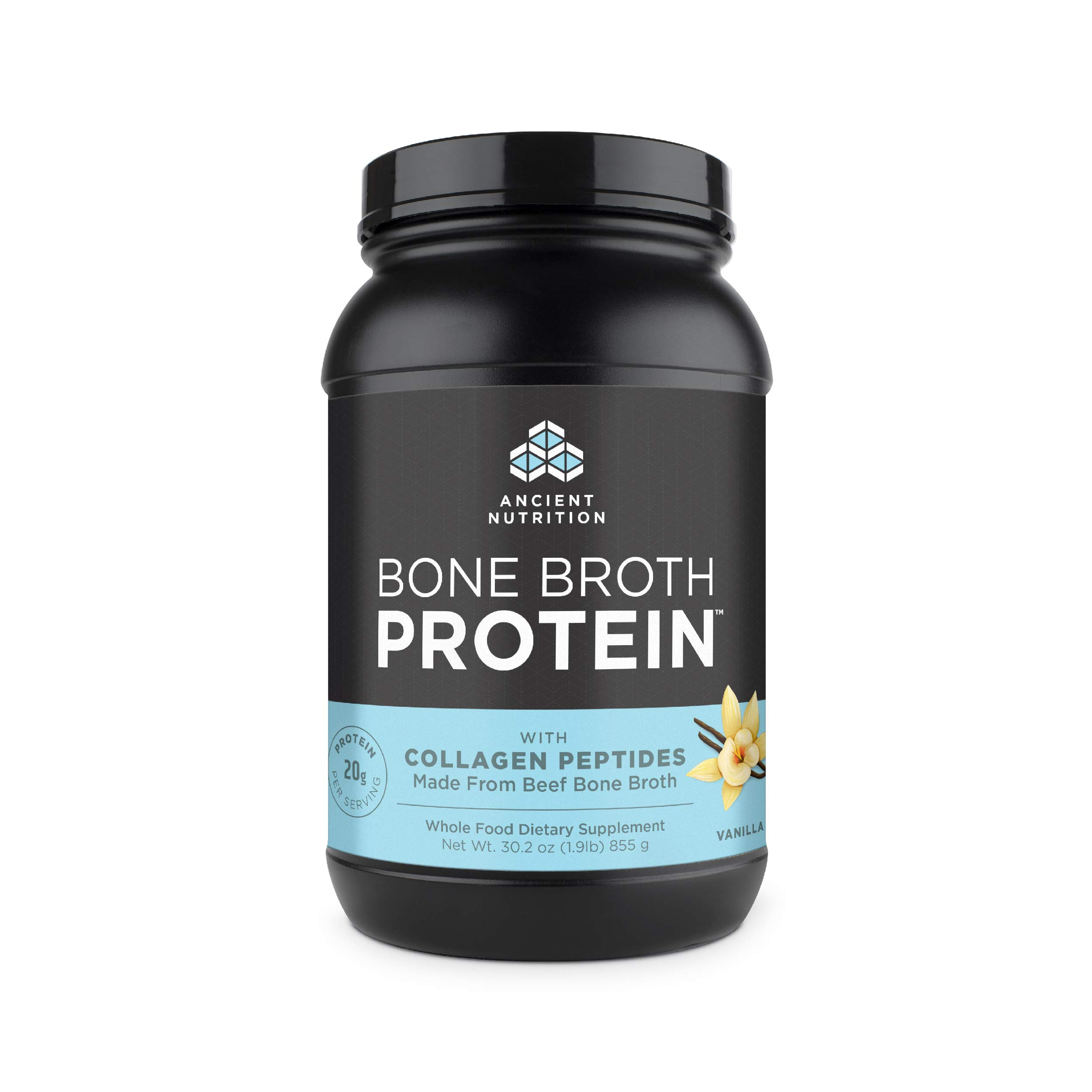Ancient Nutrition Bone Broth Protein Powder, Vanilla Flavor, 30.2oz by Ancient Nutrition