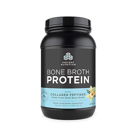 Ancient Nutrition Bone Broth Protein Powder, Vanilla Flavor, 30.2oz