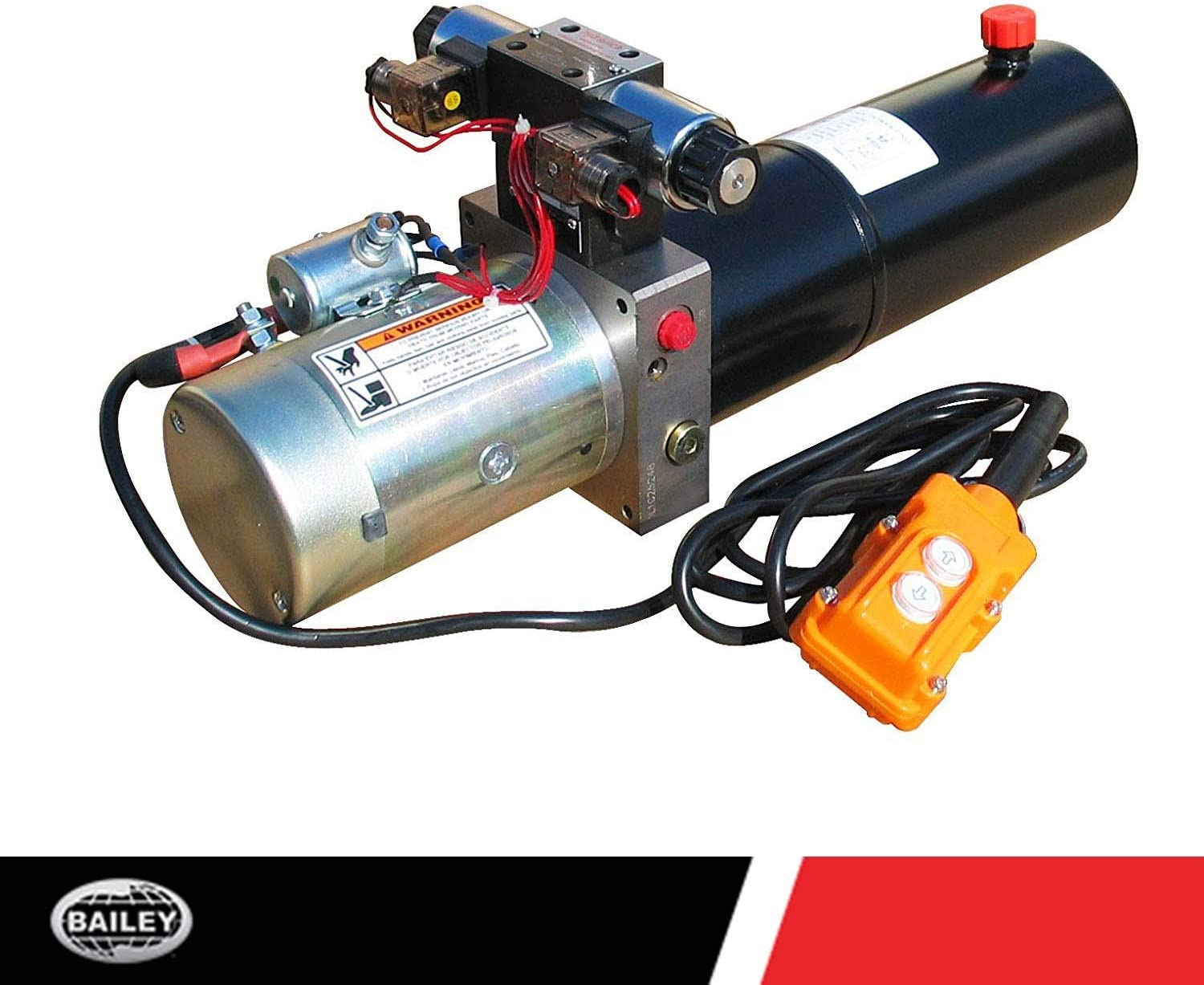 Maxim Hydraulic Power Unit 1 Gallon Poly Tank @2500 PSI #6 SAE Port Size and Solenoid Operated With HPU Dimensions: 16.25 L x 8.3 W x 8 H 12V DC, Single Acting : 1.3 GPM Flow 4 QT