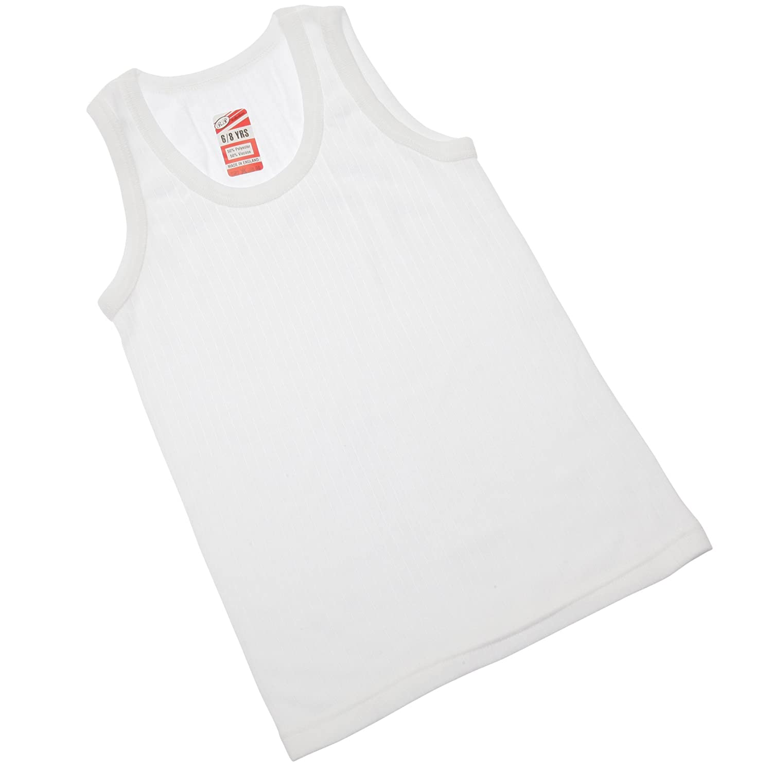 Universal Textiles Boys Thermal Clothing Sleeveless Vest Polyviscose Range (British Made)