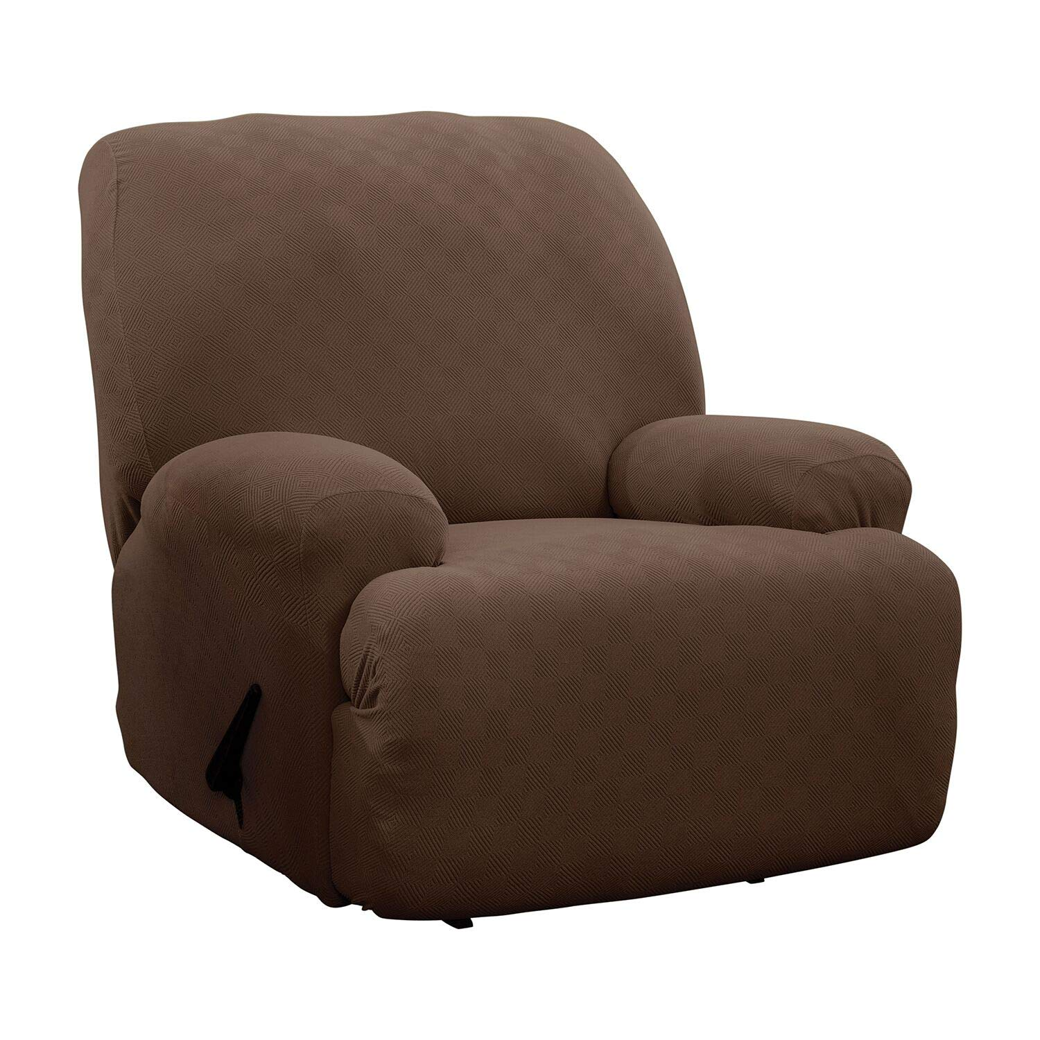 Stretch Sensations, Optic Jumbo Recliner Slipcover, Oversized Recliners, Perfect Chair Protection, Comfortable Easy Stretch Fabric (Chocolate) by Stretch Sensations