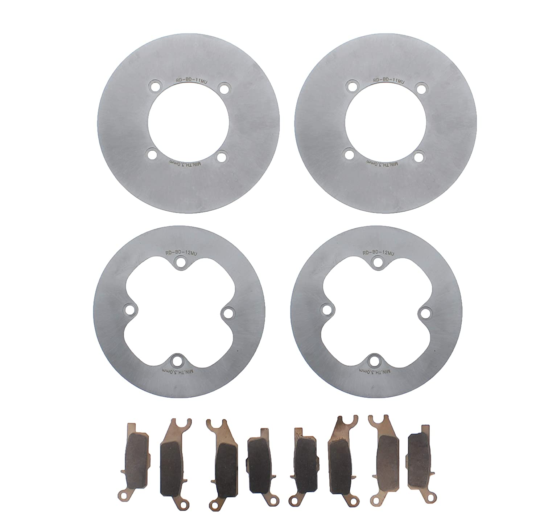 Race Driven Front MudRat Brake Rotors Discs /& Brake Pads for Yamaha Grizzly YFM700 YFM550 YFM 550 700 Race-Driven 4333351400