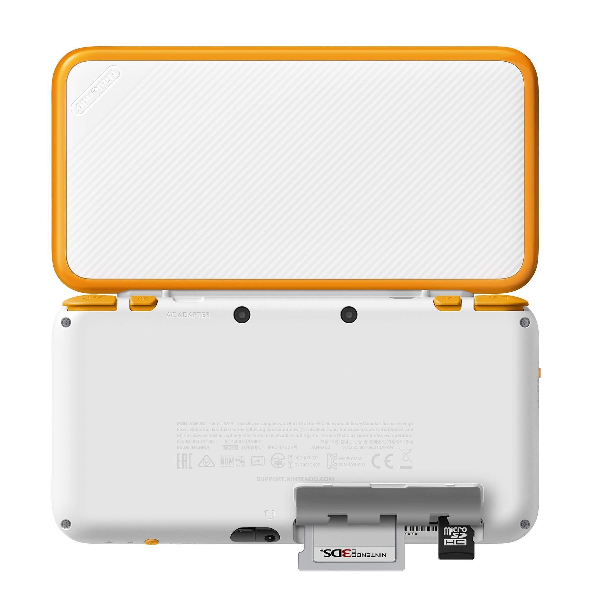 New Nintendo 2DS XL Handheld Game Console - Orange + White With Mario Kart 7 Pre-installed - Nintendo 2DS by Nintendo (Image #3)
