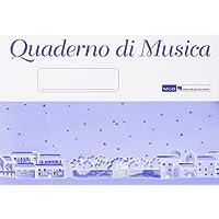 Quaderno Di Musica Blu Manuscript Paper