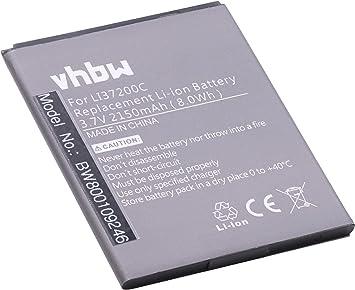 vhbw Li-Ion batería 2150mAh (3.7V) para Smartphone, teléfono móvil ...