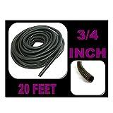 "Wire Loom Black 20' Feet 3/4"" Split Tubing Hose Cover Auto Home Marine"