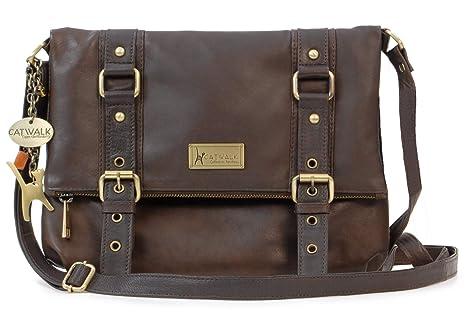 986d43a0a1fd7 Catwalk Collection Handbags - Leder - Umhängetasche - ABBEY ROAD - Braun