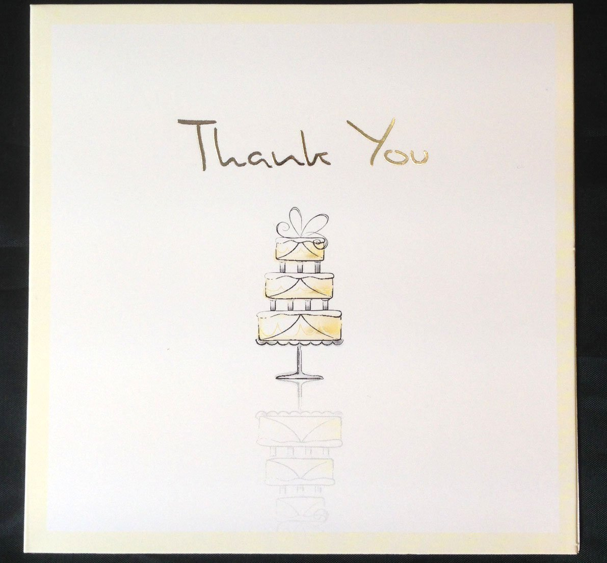 10 x Luxury Wedding Thank You Cards Champagne Flute Glasses or Wedding Cake Design Tallon