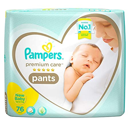 Pampers Premium Care Extra Small Diapers, 76 Count