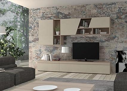 IMAB GROUP SPA Soggiorno CM270 Olmo Perla: Amazon.it: Casa e cucina