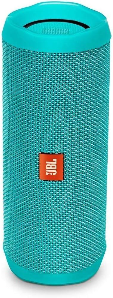 JBL Flip 4 - Altavoz inalámbrico portátil con Bluetooth, resistente al agua (IPX7), JBL Connect+, hasta 12 h de reproducción con sonido de alta fidelidad, turquesa