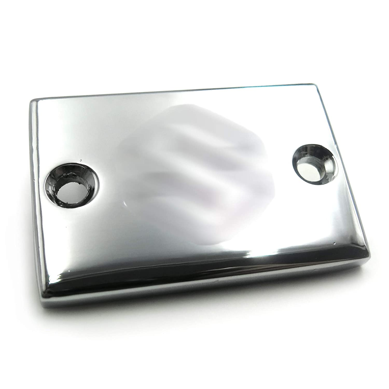 NBX Tapa de dep/ósito de l/íquido de freno trasero de aluminio cromado BilletS grabado para Suzuki GSXR 600//GSXR 750//GSXR 1000//GSXR 1100//Boulevard//Hayabusa//Katana