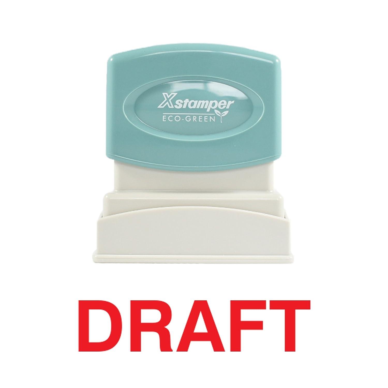 Imprint 360 1360 Xstamper Draft Pre Inked Laser Engraved Rubber Stamp Impression Size 1//2 x 1-5//8 Red