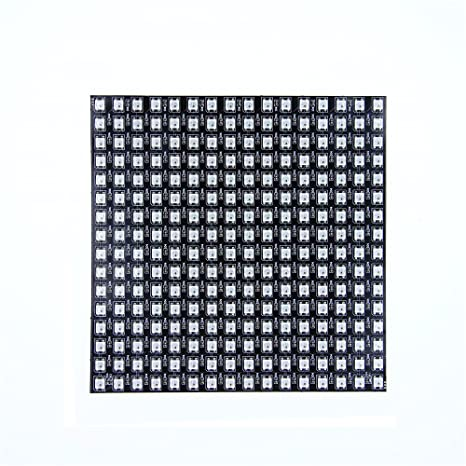 Alitove For Arduino Ws2812b Led Rainbow Matrix 16x16 256 Pixels Led