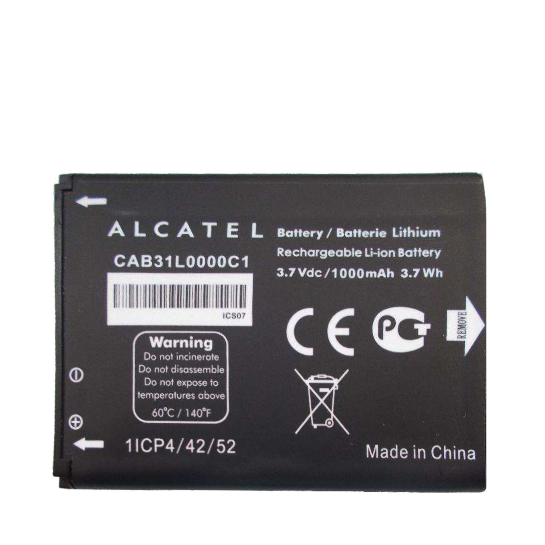 ALCATEL GLITZY GIZMOS® GENUINE CAB31L0000C1 1000mAh 3.7V 3.7Wh BATTERY FOR VODAFONE 555 / VF555 / VF155 / OT-891 ONE TOUCH 891 (None Retail Packaging)