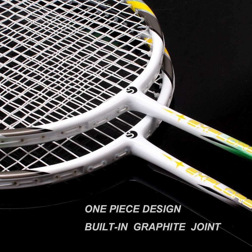 Carbon Profi Badminton Set Leichtgewicht Badmintonschläger Federballschläger