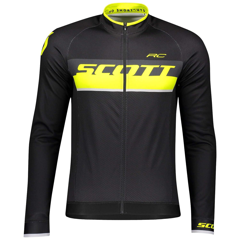 Scott RC AS Winter Fahrrad Trikot schwarz/gelb 2019: Größe: S (44/46)