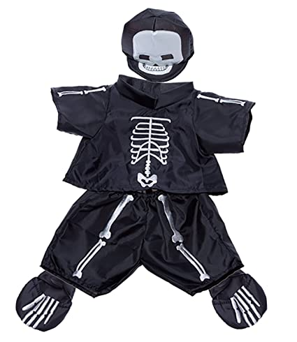 Skeleton Costume Outfit Teddy Bear Clothes Fit 14u0026quot; - 18u0026quot; Build-A-  sc 1 st  Amazon.com & Amazon.com: Skeleton Costume Outfit Teddy Bear Clothes Fit 14