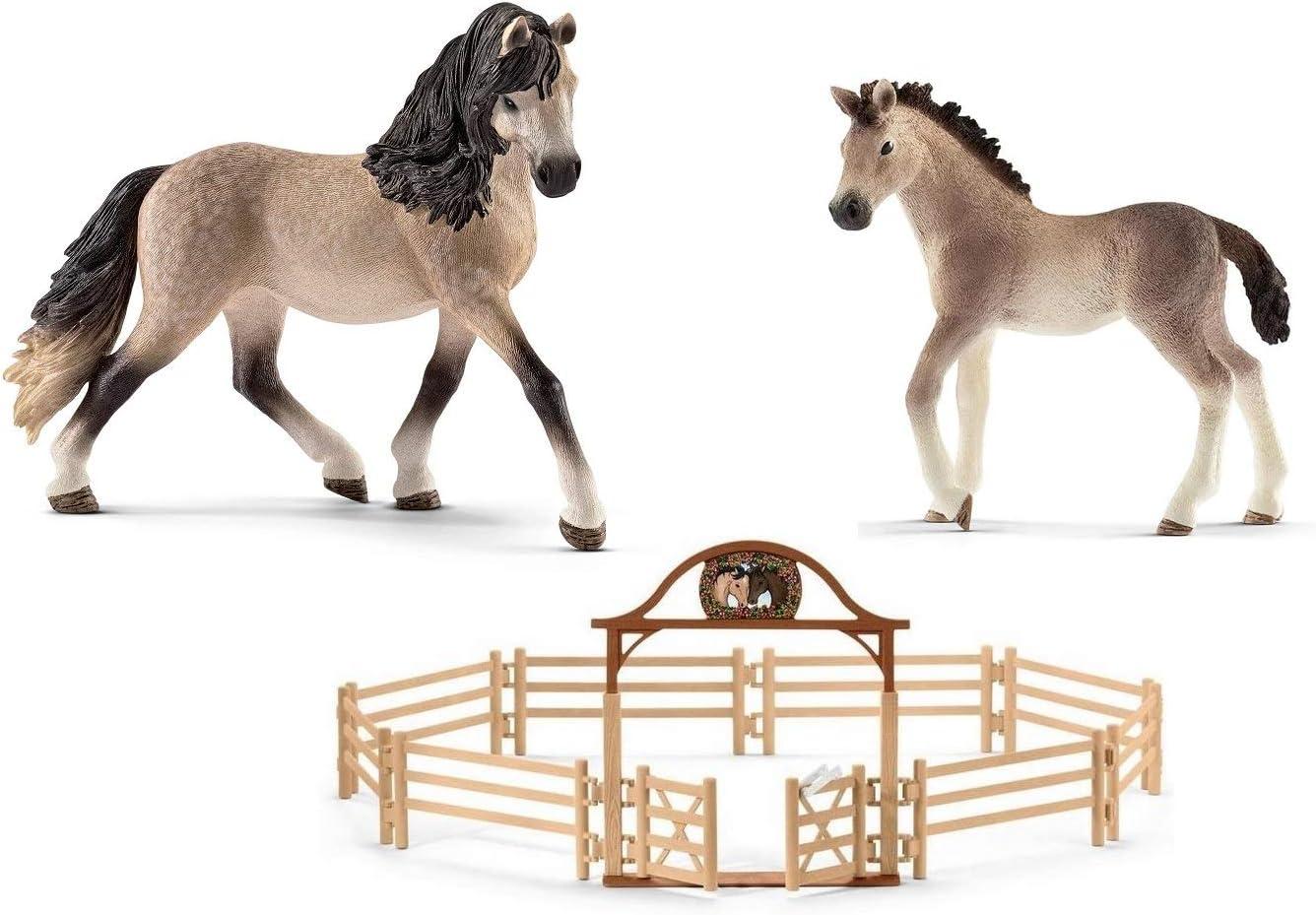 Schleich Horse Club  3 Pferde  Fohlen Pferd