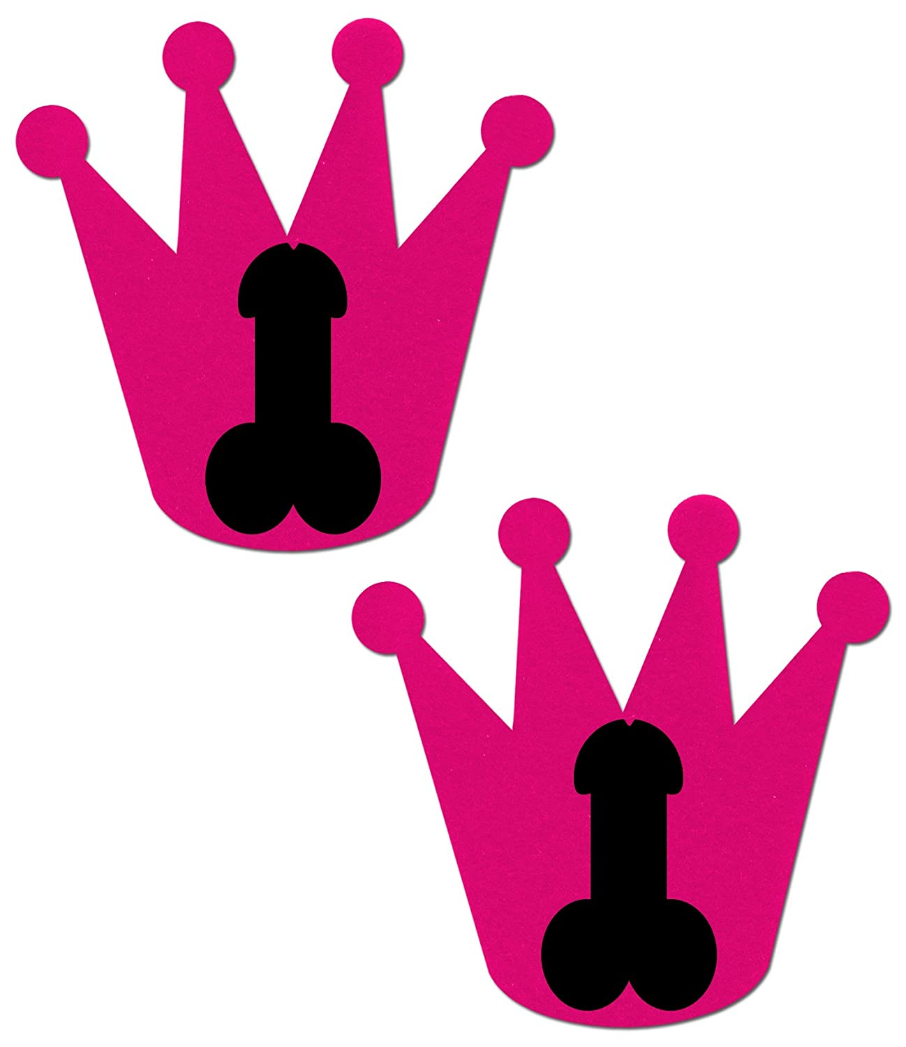 amazon com hot pink bachelorette crown with black penis nipple rh amazon com