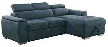 Homelegance Ferriday Modern Convertible / Adjustable Pull Out Sofa Bed With  Lift Up Storage
