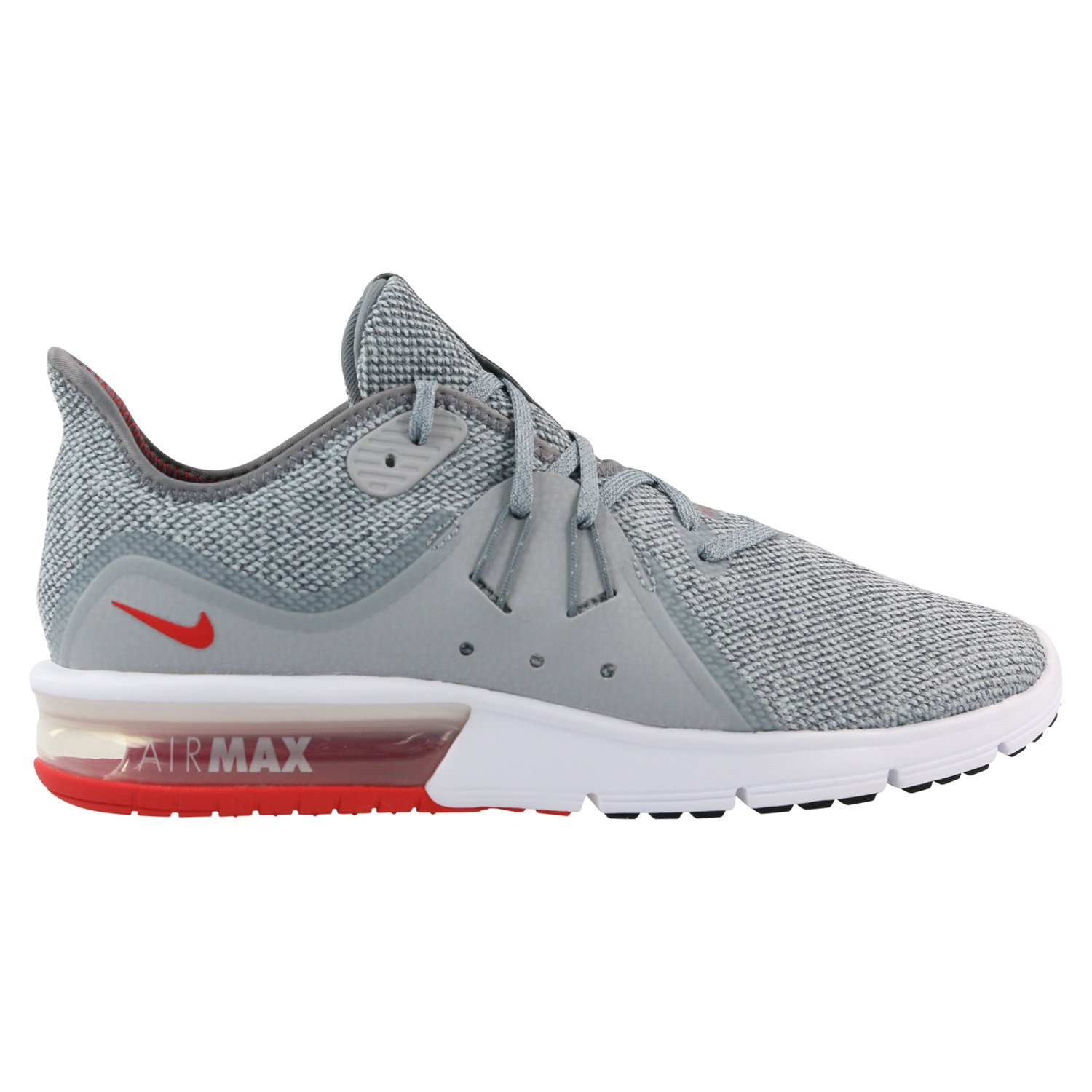 Nike Men's Air Max Sequent 3 Running Shoes Cool Grey/University Red 7