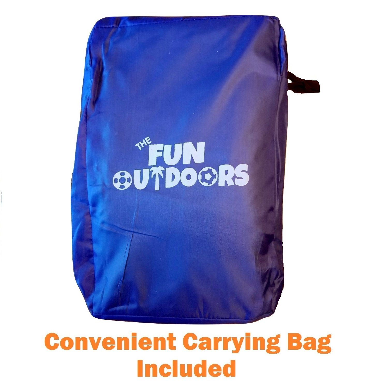 The Fun Outdoors 12 Foot Play Parachute for Kids 8 Handles with Storage Bag & Fun Game Guide - Gymnastics Team Building Activity and Group Toy