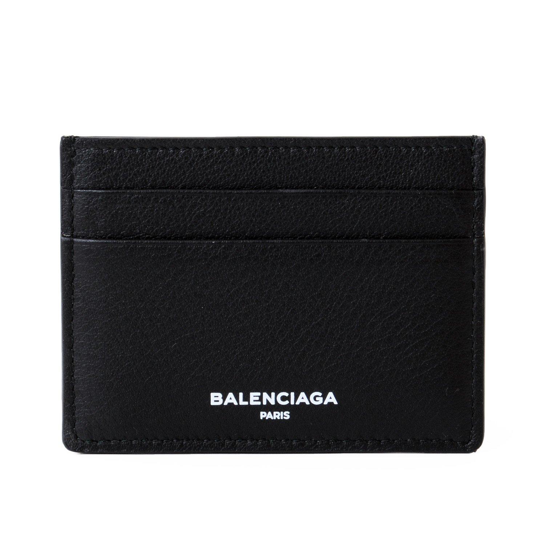 [バレンシアガ] BALENCIAGA カードケース パスケース メンズ レディース 名刺入れ Black Leather Card Holder 490620 DLQ0N B07DQJVC8Rブラック
