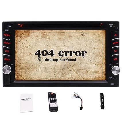 Amazon com: EinCar Double 2 Din Car Stereo DVD CD Player with 6 2