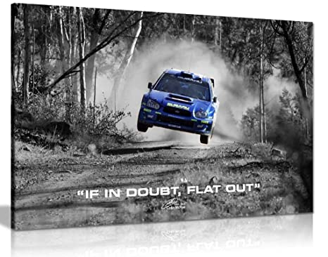 Subaru WRX Rally Car Colin McRae If in Doubt - Lienzo ...