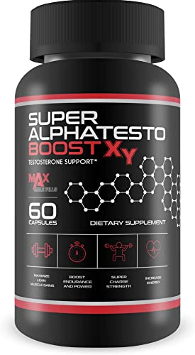 Super AlphaTesto Boost X Y – Natural Testosterone Support – Boost Free Testosterone with This Herbal Super Alpha Testo Boost X Blend – Improve Muscle Growth – Feel Youth, Power, Energy, and Drive