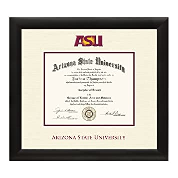com arizona state university diploma frame textured  arizona state university diploma frame textured ivory maroon matting official asu logo