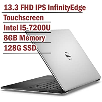 Dell XPS 13 Silver Edition Full HD InfinityEdge anti-glare Touchscreen Laptop Intel Core i5-7200U | 8GB RAM | 128GB SSD | Backlit Keyboard | Corning Gorilla ...