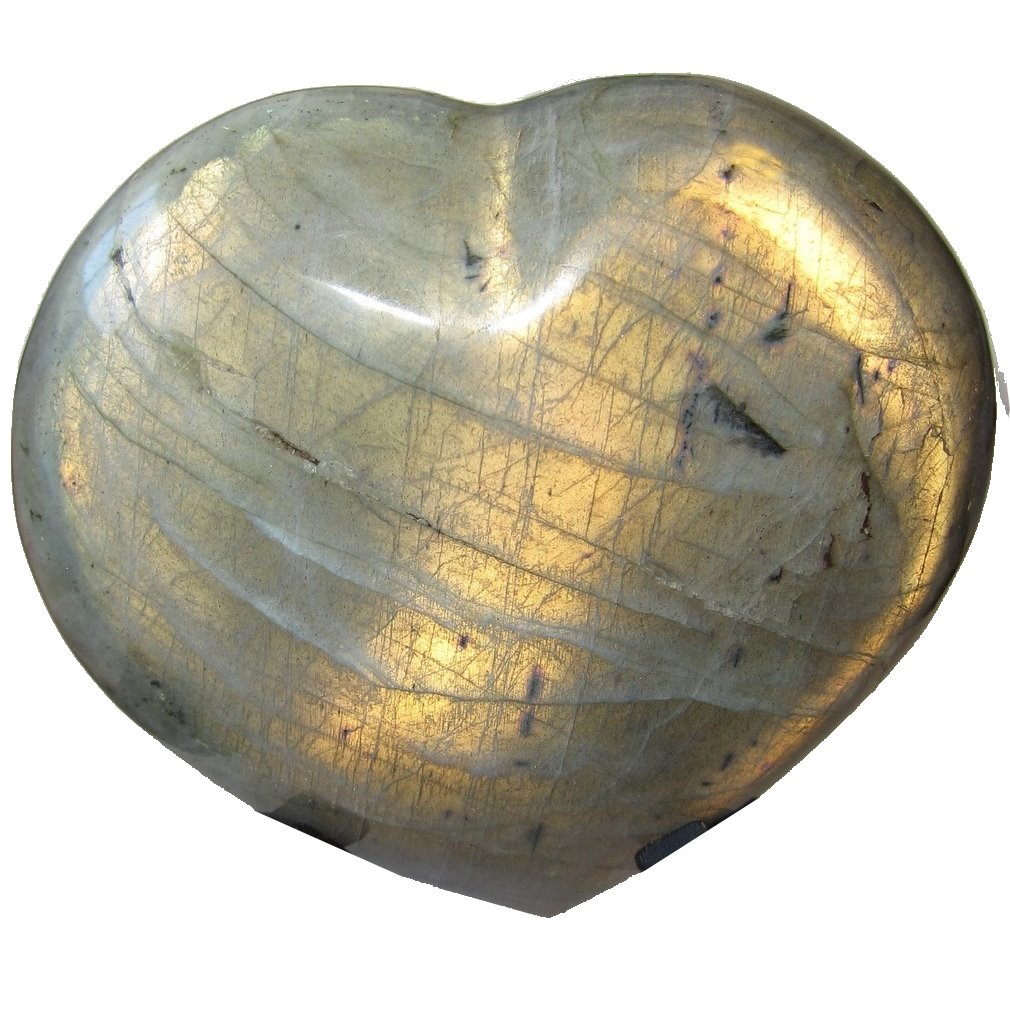 Labradorite Heart 65 Precious Novelty Sized Crystal Gemstone Genuine Gift of Love 4.4''