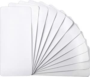 12 Sheets 4.92 x 11 in/ 12.5 x 28 cm Iron-On Mending Fabric Iron On Clothes Patches for Mending Fix Couch Pants Pockets Holes Knees Elbow, White