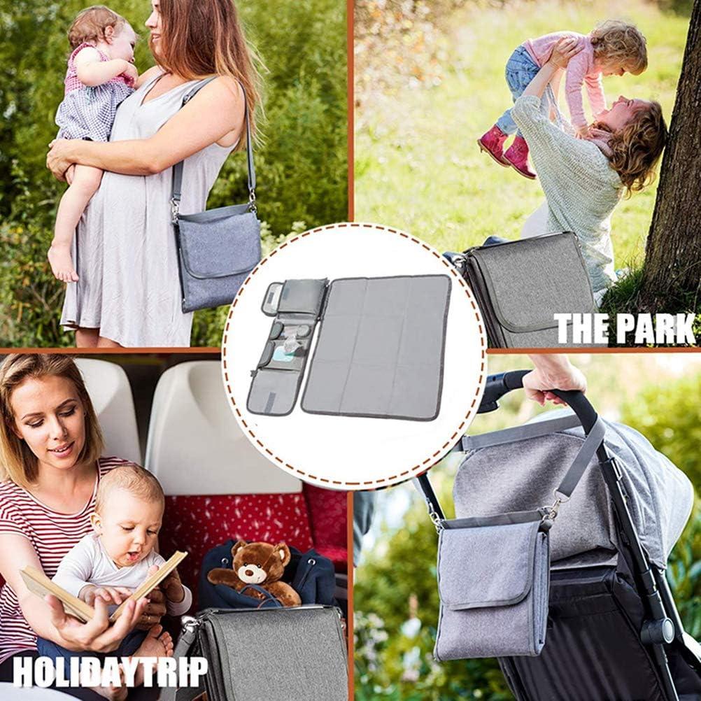 Multifunctional Folding Waterproof Multifunctional Single Shoulder Slant Diaper Pad Kikier Baby Diaper Pad
