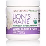 Host Defense, Lion's Mane Mushroom Powder, Supports Mental Clarity, Focus and Memory, Certified Organic Supplement, 3.5…