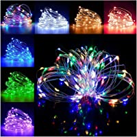 100LEDs 33Ft LED Fairy Lights USB Powered LED String Lights with Remote, 16 Color Changing Lights Twinkle Firefly Lights…
