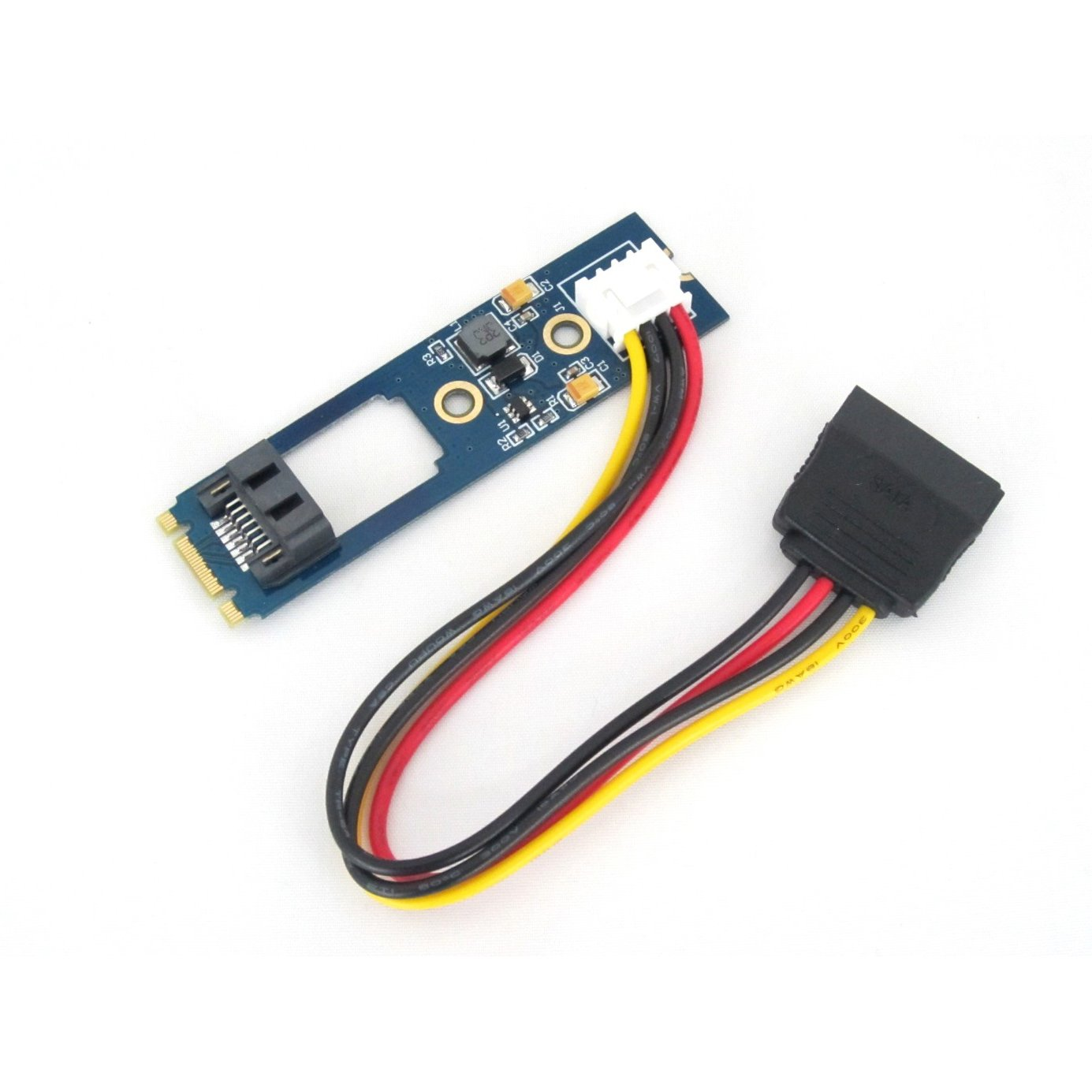 SATA SSD/HDD to M.2 NGFF Adapter Card with Power Cable