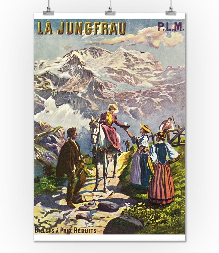 vintagetravel//Ski Poster a 1 a 2 a 3 a 4 Tamaños Jungfrau ferrocarril suiza