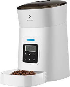 PETLIBRO Automatic Cat Feeder, 4L Auto Pet Dry Food Dispenser with Clog-Free Design, Low Food LED Indication, 0-50 Portion Control for 1-6 Meals Daily, 10s Voice Recorder for Small & Medium Pets