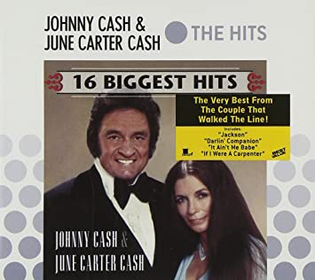 amazon 16 biggest hits slip johnny cash june carter cash