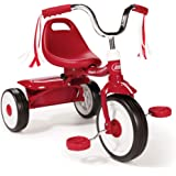 Radio Flyer 411S Kids Toddler Readily Assembled Adjustable Beginner Trike Tricycle Bike with Storage Bin and Handle…